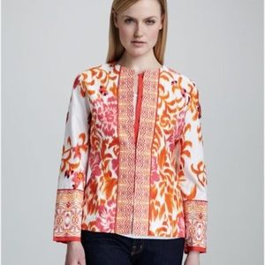 Indikka New York Jacquard floral print jacket L